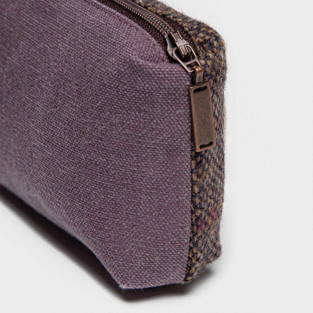 Liten veske Tweed Purple Detalj
